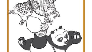 Coloriage Kung Fu Panda - 12