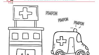 Coloriage L'ambulance