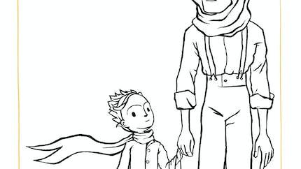 Coloriage l'Aviateur et le Petit Prince
