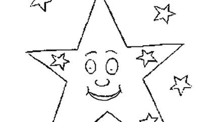 Coloriage l'étoile qui brille