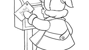 Coloriage la lettre au père Noël
