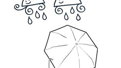 la petite fille au parapluie