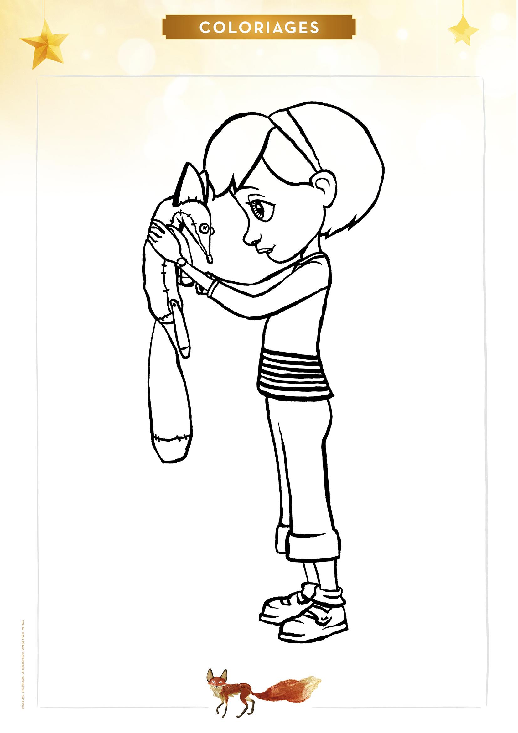 Coloriage La Petite Fille Et Le Renard Momes Net