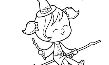 Coloriage La petite sorcière