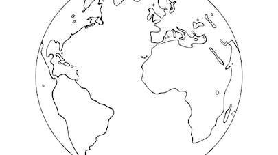 Coloriage La planète Terre
