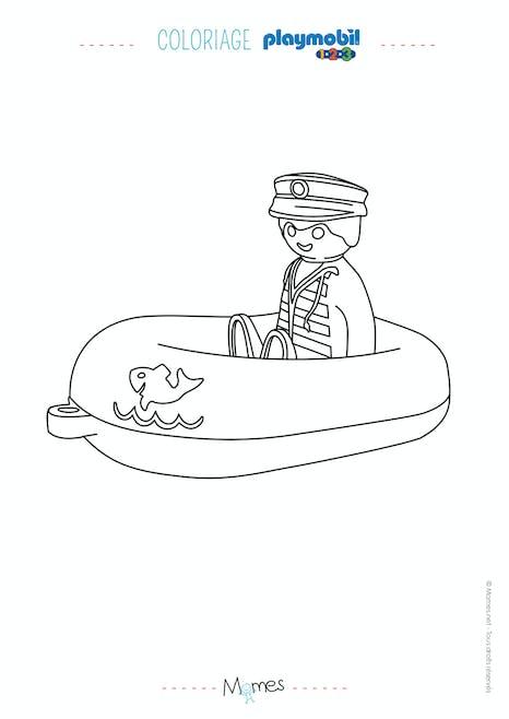 Coloriage Le Bateau Et Son Capitaine Playmobil 123 Momes Net