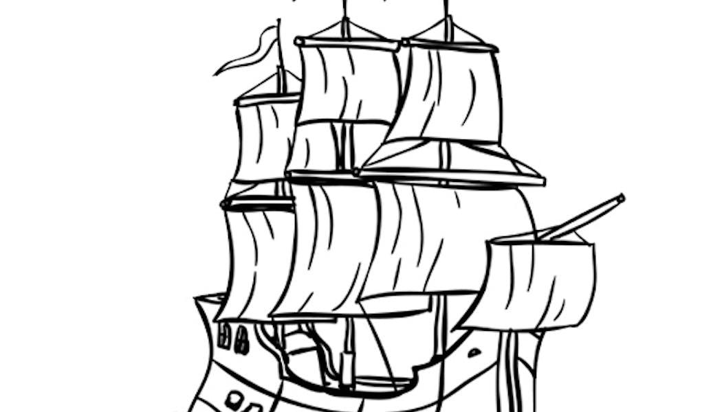Coloriage Le Bateau Pirates Momes Net
