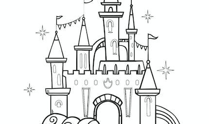 Coloriage le château de princesse