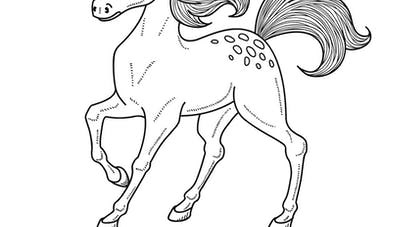 Coloriage Le cheval