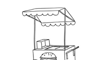 Coloriage le fast-food