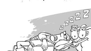 Coloriage le fermier endormi