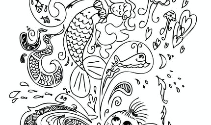 Coloriage le monde de la mer