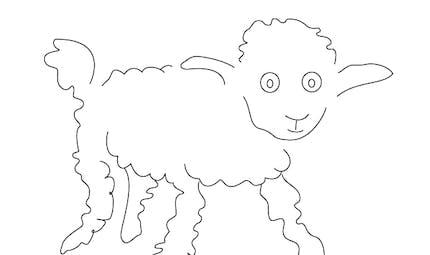 Coloriage le Petit Prince: le mouton