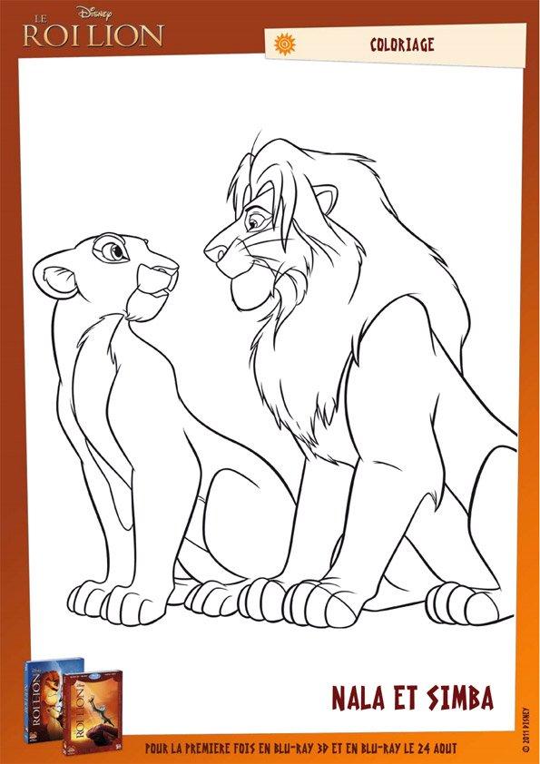Coloriage Le Roi Lion 30 Momes Net