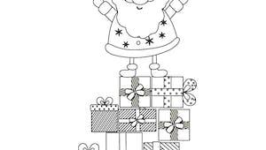 Coloriage les cadeaux du Père Noël