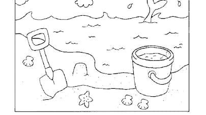 coloriage les chateaux de sable