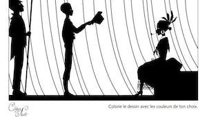 Coloriage Les Contes de la Nuit - 4