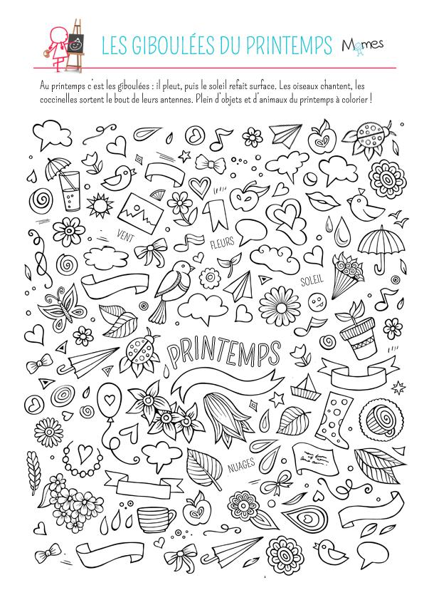 Coloriage Les Giboulees Du Printemps Momes Net