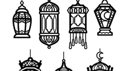 Coloriage les lanternes du Ramadan