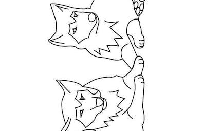 Coloriage les loups (2)