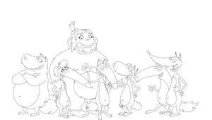 Coloriage Loup et ses amis
