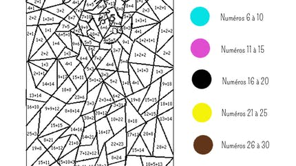 Coloriage magique (2): exercice