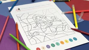 Coloriage magique Alphabet : Sirène
