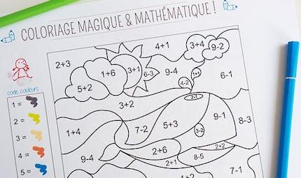 Coloriage magique et mathématique : la baleine