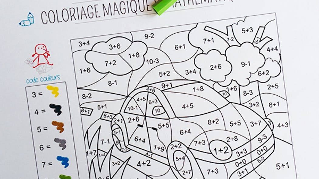 Coloriage magique et mathématique : la voiture