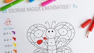 Coloriage magique et mathématique : le papillon