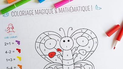 coloriage magique math
