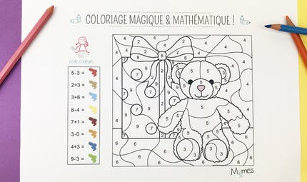 Coloriage magique et mathématique : Noël
