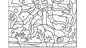 Coloriage magique : la pieuvre