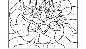 Coloriage magique : le lotus