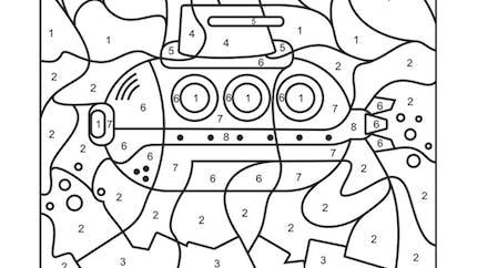 Coloriage magique : le sous-marin
