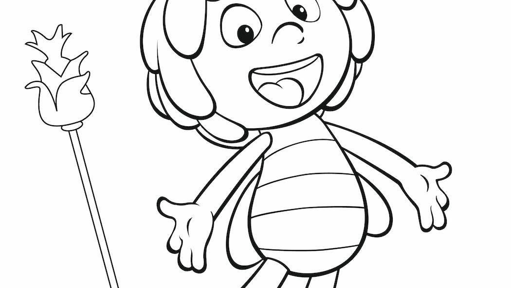 Coloriage Maya l'abeille