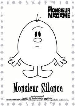 Coloriage Monsieur Silence Momes Net