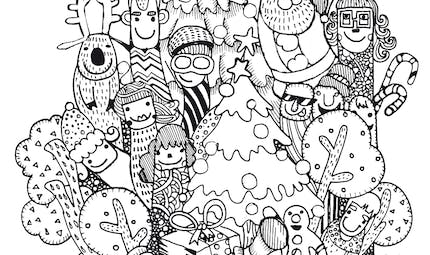 Coloriage Noël Funky