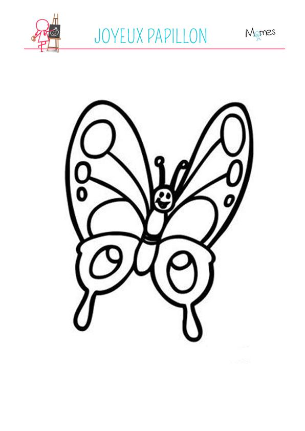 Coloriage Papillon Souriant Momes Net