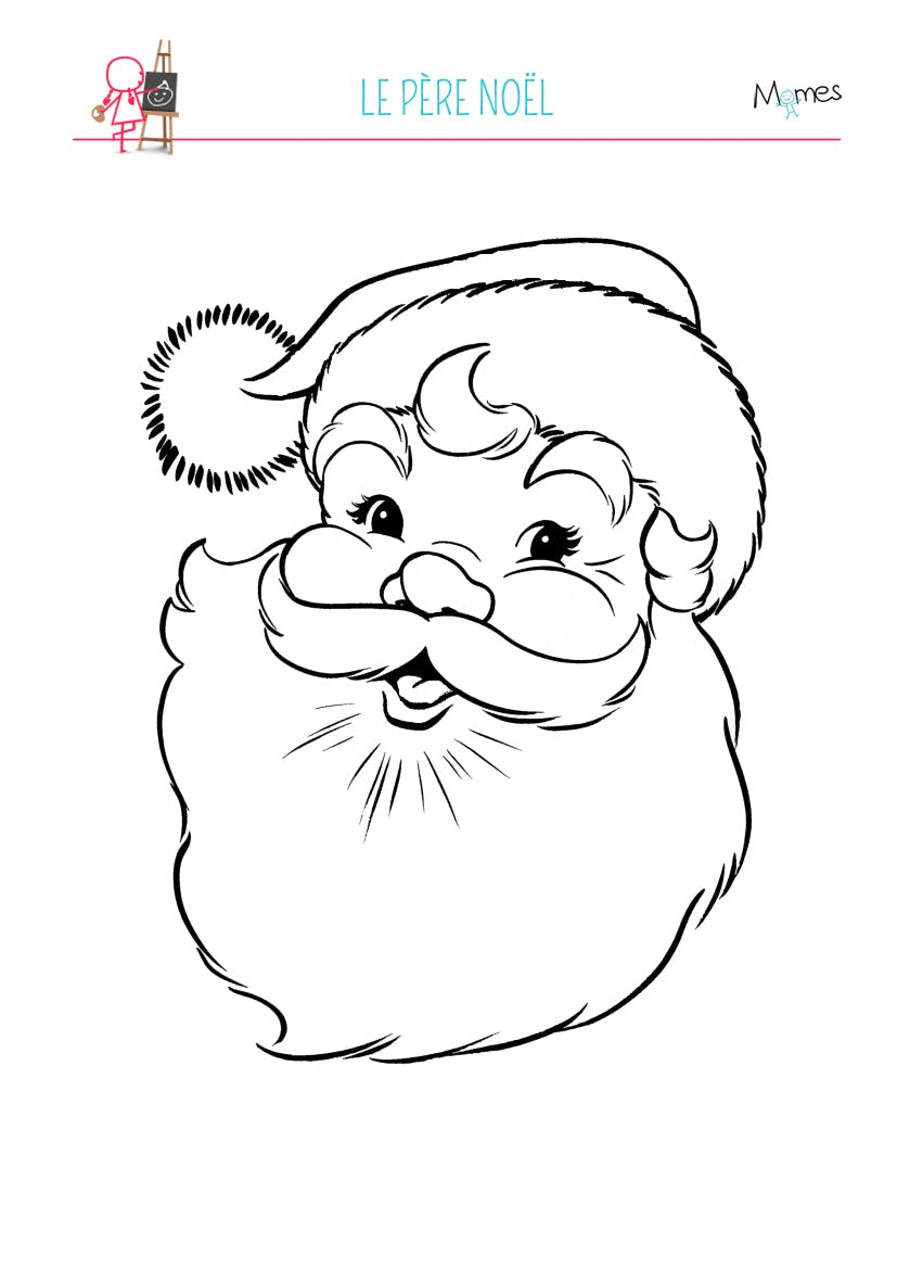 Coloriage Pere Noel Momes Net