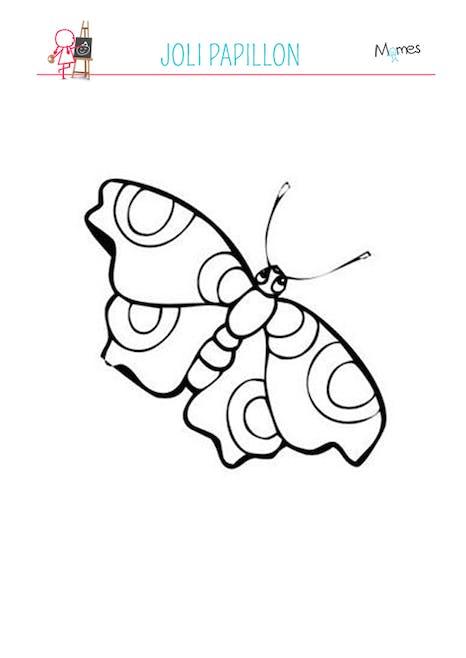 Coloriage Petit Papillon Momes Net