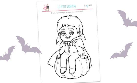 Coloriage Petit Vampire