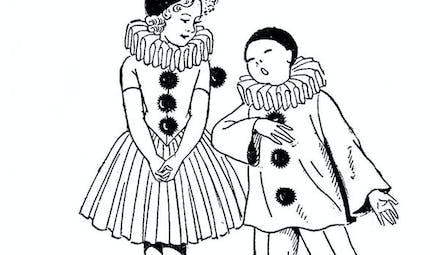 Coloriage Pierrot et Colombine