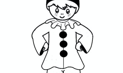 Coloriage Pierrot