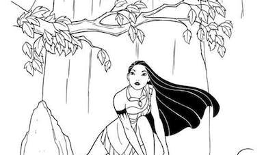 Coloriage Pocahontas