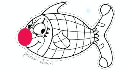 Coloriage poisson d'avril : le poisson clown