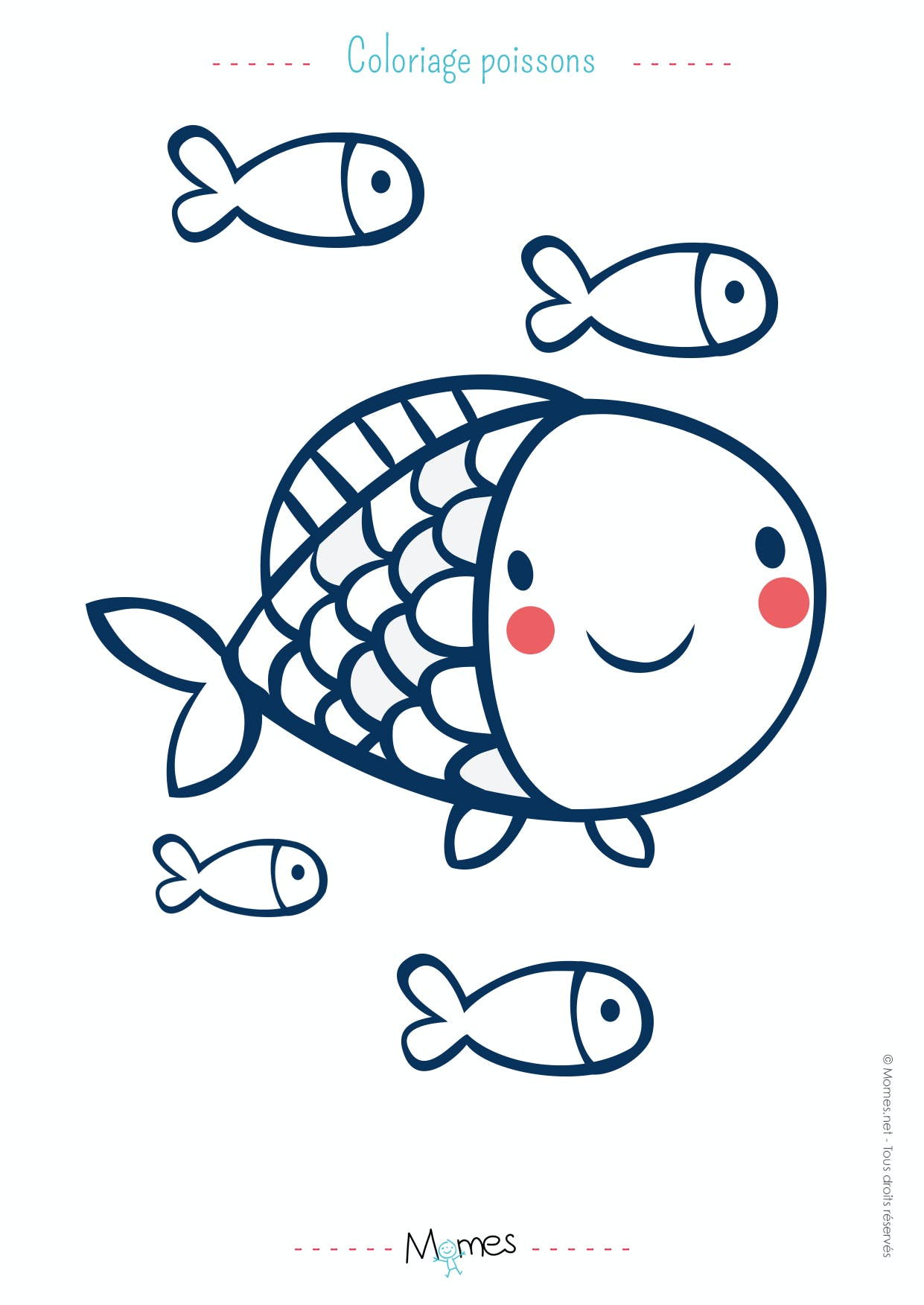 Coloriage Poisson D Avril Momes Net