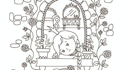 Coloriage princesse raiponce