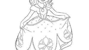 Coloriage Princesse Sofia (9)