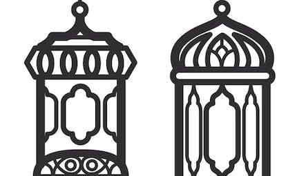 Coloriage Ramadan : de jolies lanternes